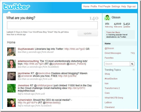 twitterhomepage thumb2 A Beginners Guide to Getting the Most Out of Twitter